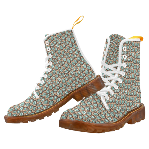 Green crystals Martin Boots For Women Model 1203H