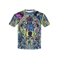 WOLF COLORFUL 4 KIDS Kids' All Over Print T-shirt (USA Size) (Model T40)