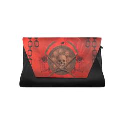 Skulls on red vintage background Clutch Bag (Model 1630)