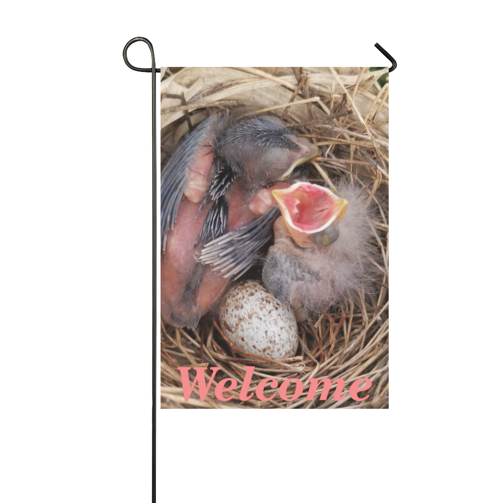 Baby Cardinals Welcome Garden Flag 12''x18''(Without Flagpole)