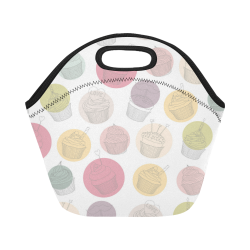 Colorful Cupcakes Neoprene Lunch Bag/Small (Model 1669)