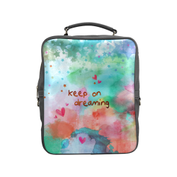 KEEP ON DREAMING - rainbow Square Backpack (Model 1618)