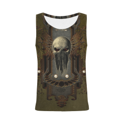 Awesome dark skull All Over Print Tank Top for Women (Model T43)
