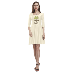 Powered by Plants (vegan) Tethys Half-Sleeve Skater Dress(Model D20)