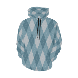 Argyle Hoodie for Men 2 All Over Print Hoodie for Men (USA Size) (Model H13)