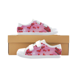 lovely romantic sky heart pattern for valentines day, mothers day, birthday, marriage Velcro Canvas Kid's Shoes (Model 008)