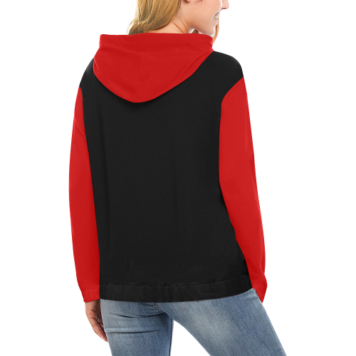 Harley Quinn All Over Print Hoodie for Women (USA Size) (Model H13)