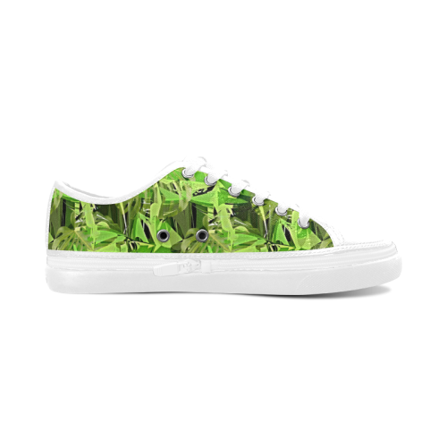 Tropical Jungle Leaves Camouflage Women's Canvas Zipper Shoes (Model 001)