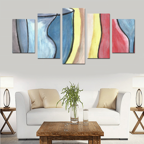 2_cups painting Canvas Print Sets D (No Frame)