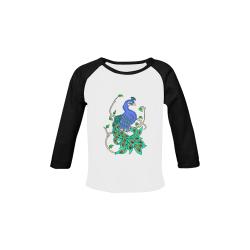 Pretty Peacock Baby Organic Long Sleeve Shirt (Model T31)