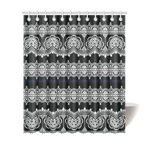 "Eastern folk Art Shower Curtain 72""x84"""