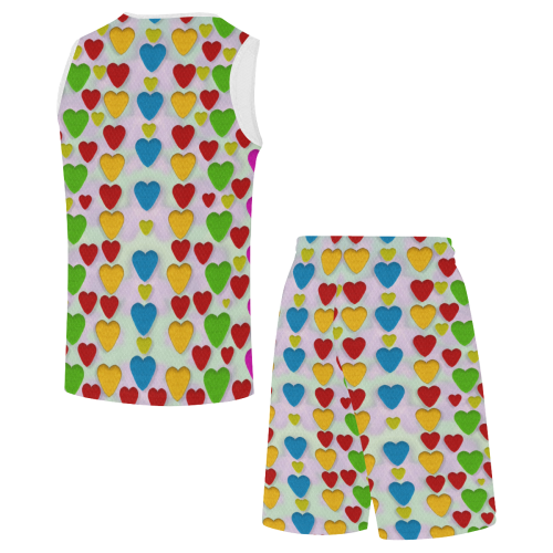 So sweet and hearty as love can be All Over Print Basketball Uniform