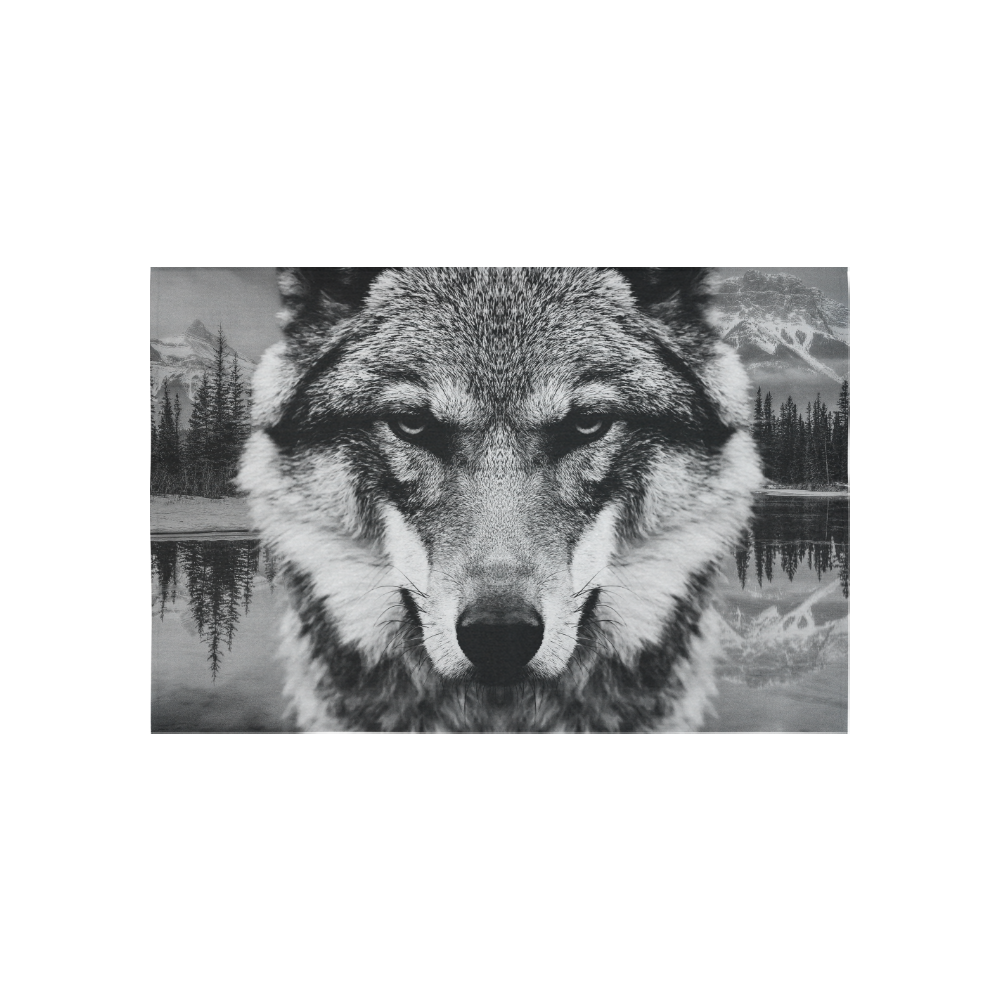"""Wolf Animal Nature Cotton Linen Wall Tapestry 60""""x 40"""""""