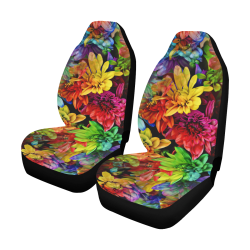 Photography Colorfully Asters Flowers Pattern Car Seat Covers (Set of 2)