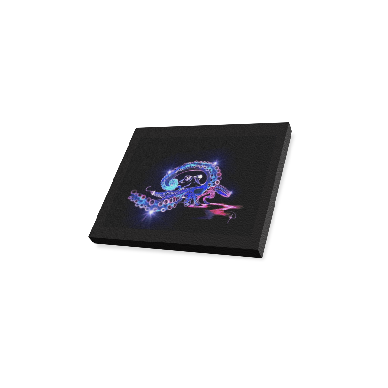 "Blue Octopirate Canvas Print 10""x8"""