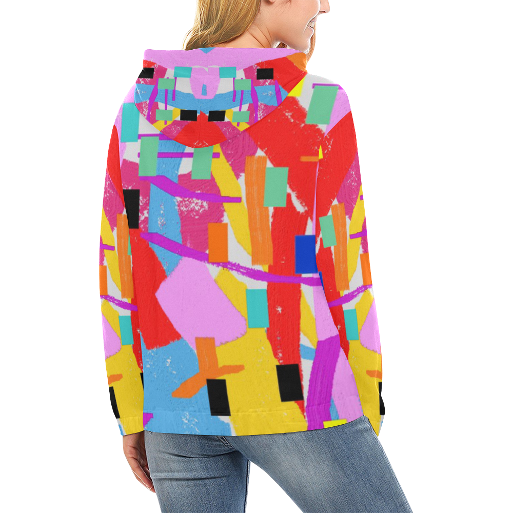 CONFETTI NIGHTS 2A All Over Print Hoodie for Women (USA Size) (Model H13)