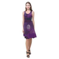 Purple Moon Night Atalanta Casual Sundress(Model D04)