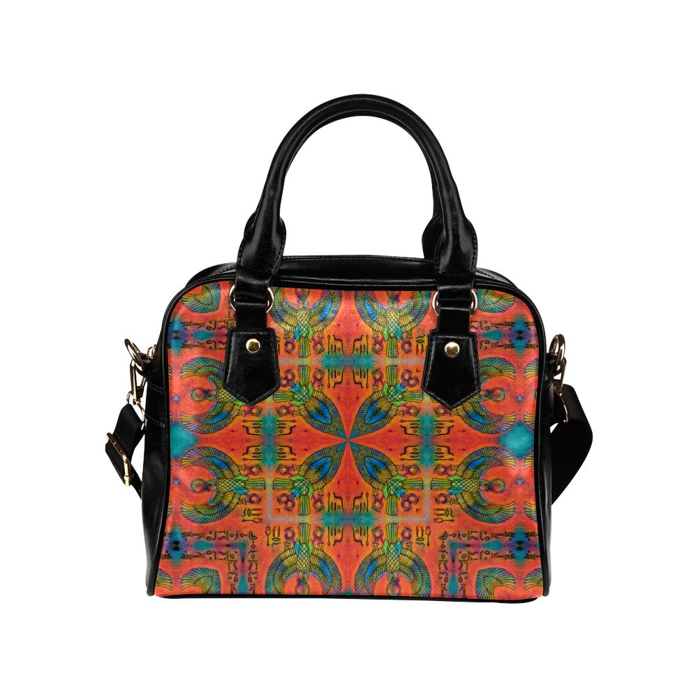 Vintage Horus 2 Leather Shoulder Handbag (Model 1634)