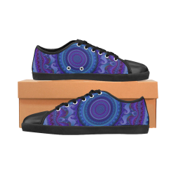 MANDALA PASSION OF LOVE Men's Canvas Shoes (Model 016)