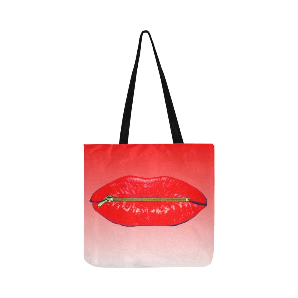 lips Reusable Shopping Bag Model 1660 (Two sides)