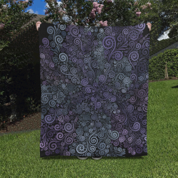"3d Psychedelic Ultra Violet Powder Pastel Quilt 50""x60"""