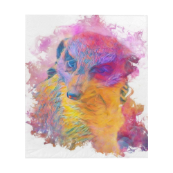"""Painterly Animal - Meerkat by JamColors Quilt 60""""x70"""""""