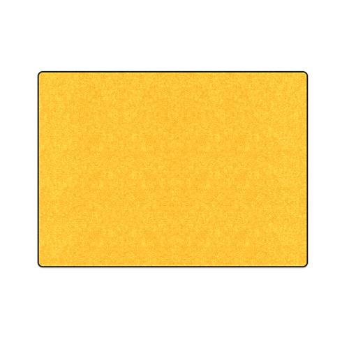 "Neon Orange Tangerine Blanket 58""x80"""