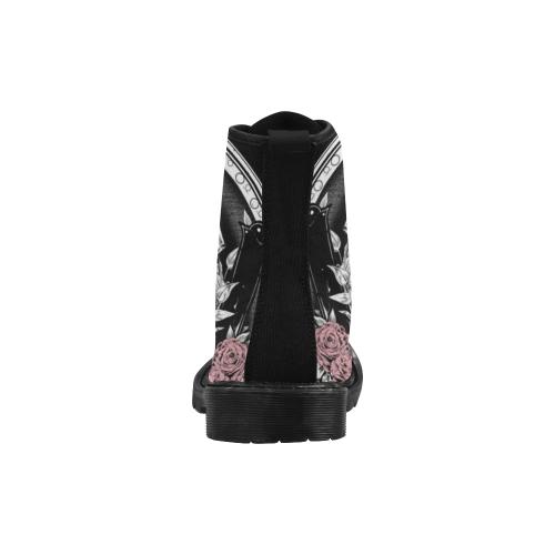 Women's Skeleton Bride Boots Martin Boots for Women (Black) (Model 1203H)