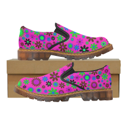 FLORAL DESIGN 6 Martin Women's Slip-On Loafer (Model 12031)