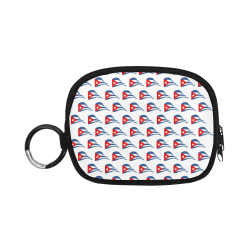 Cuban Flapping Flags Oval Coin Purse (Model 1605)