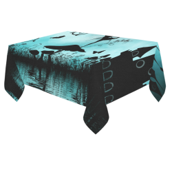"Dancing in the night Cotton Linen Tablecloth 60""x 84"""