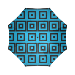 Blue-Black Pattern Foldable Umbrella (Model U01)