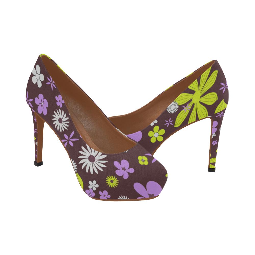 FLORAL DESIGN 4 Women's High Heels (Model 044)