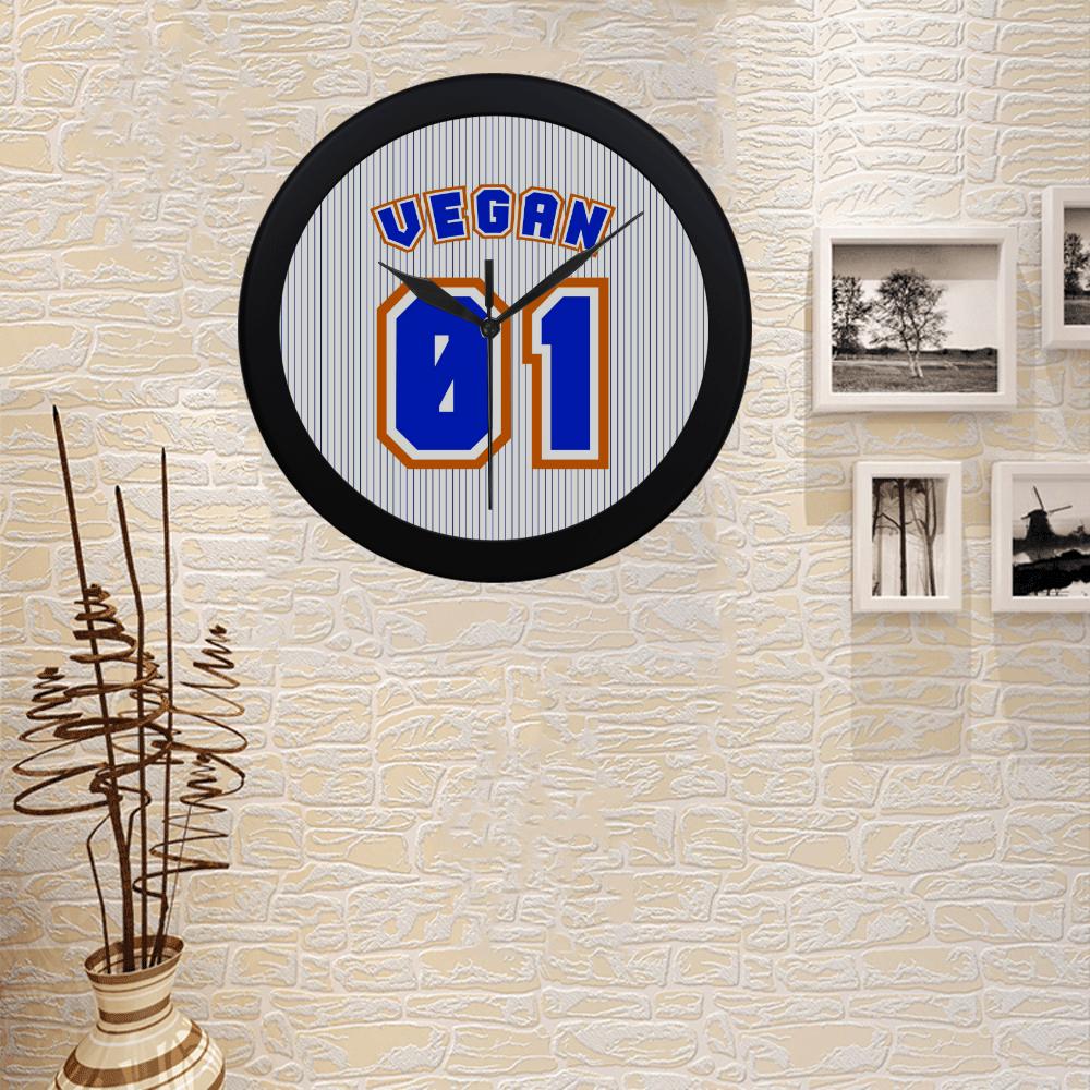No. 1 Vegan Circular Plastic Wall clock
