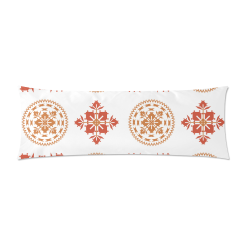 """portuguese ornament   azulejos Custom Zippered Pillow Case 21""""x60""""(Two Sides)"""