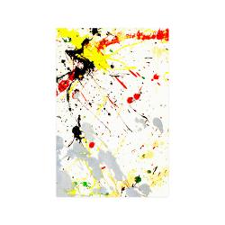 "Yellow & Black Paint Splatter Poster 20""x30"""