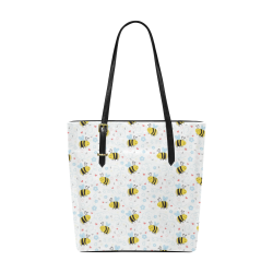 Cute Bee Pattern Euramerican Tote Bag/Small (Model 1655)