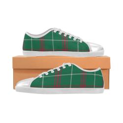 Welsh National Tartan Canvas Kid's Shoes (Model 016)
