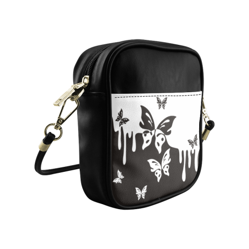 Animals Nature - Splashes Tattoos with Butterflies Sling Bag (Model 1627)