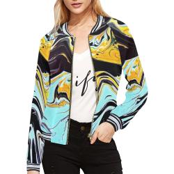 oil_d All Over Print Bomber Jacket for Women (Model H21)