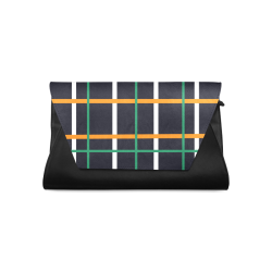 Black Tartan Clutch Bag (Model 1630)