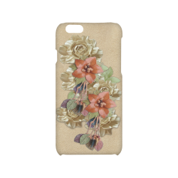 leather flowers Hard Case for iPhone 6/6s