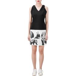PANDA Dress Sleeveless V Neck Dress (Model D55)