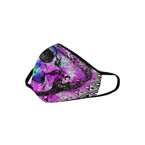 PATTERN SKULL ART 3D MASK Mouth Mask in One Piece (2 Filters Included) (Model M02)