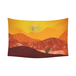 """In The Desert Cotton Linen Wall Tapestry 90""""x 60"""""""