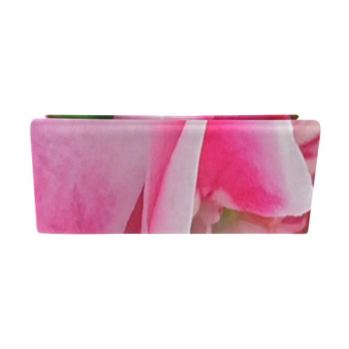 Pretty Pink Flowers Custom Foldable Glasses Case