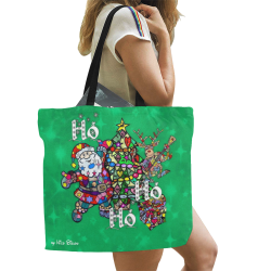 Ho Ho Ho X Mas by Nico Bielow All Over Print Canvas Tote Bag/Large (Model 1699)