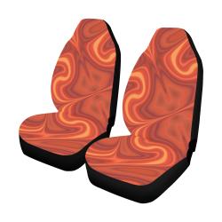 Fiery Fire Car Seat Covers (Set of 2)