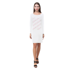 Pattern Orchidées Demeter Long Sleeve Nightdress (Model D03)