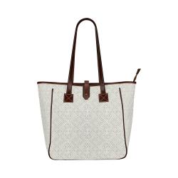 White 3D Geometric Pattern Classic Tote Bag (Model 1644)